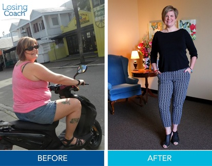 Weight Loss Success with Losing Coach® Julie lost 40 lbs with Losing Coach®