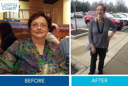 Weight Loss Success with Losing Coach® Bonnie Before and After
