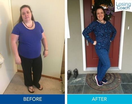 Losing Coach® Weight Loss Before and After Pic